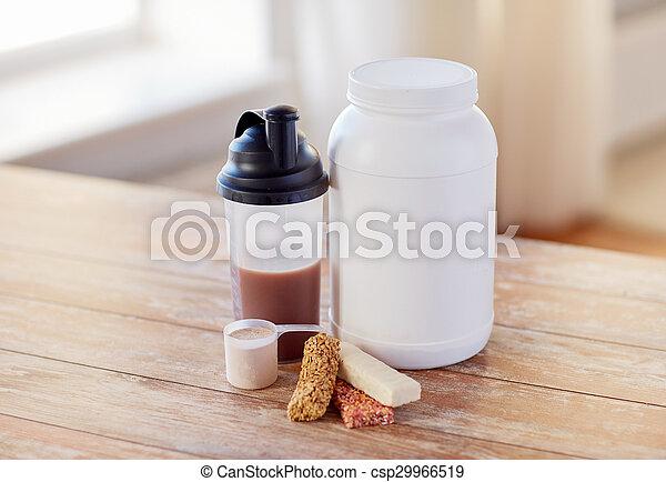 alimento, encima de cierre, tabla, proteína, additives - csp29966519