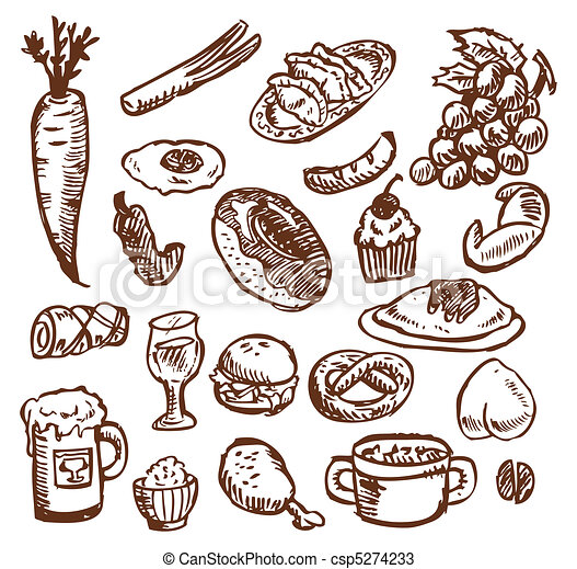 alimento, esboço - csp5274233