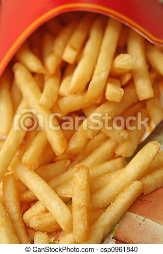 alimento, fríe, rápido, francés - csp0961840