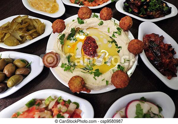 alimento, hummus, -, cozinha - csp9580987