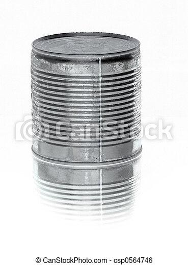 alimento, lata, pretas, lata - csp0564746