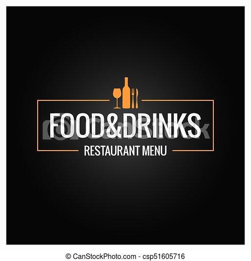Comida y bebida de fondo menú - csp51605716