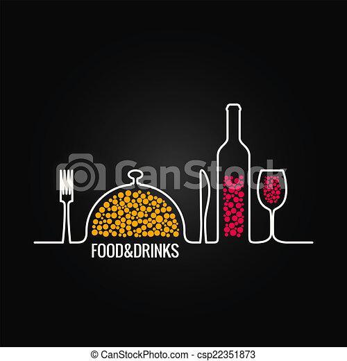 Comida y bebida de fondo menú - csp22351873