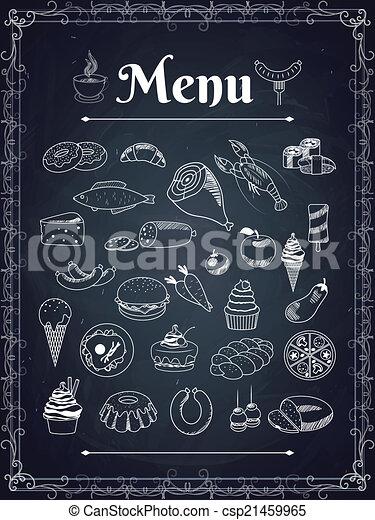 Menú de comida - csp21459965