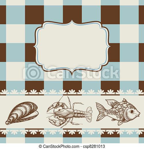 alimento, menú, mar - csp8281013
