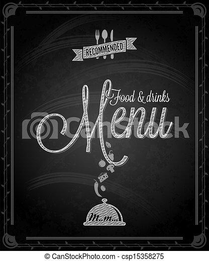 Cartel - menú de comida enmarcada - csp15358275