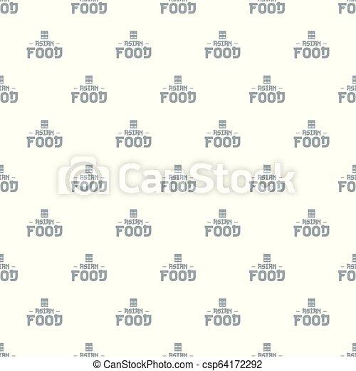vector de comida menu asiática sin costura - csp64172292