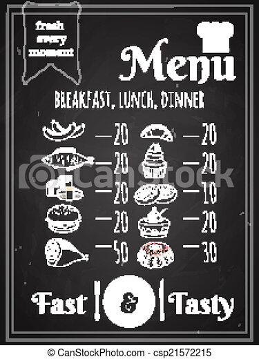 Diseño de carteles de menú de comida para vectores - csp21572215