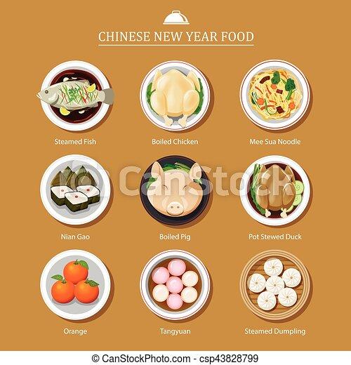 Comida para el año nuevo chino - csp43828799