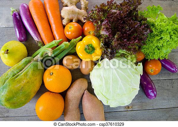 alimento, orgánico - csp37610329