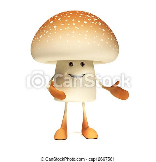 alimento, personagem, -, cogumelo - csp12667561