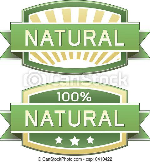 alimento, produto, natural, ou, etiqueta - csp10410422