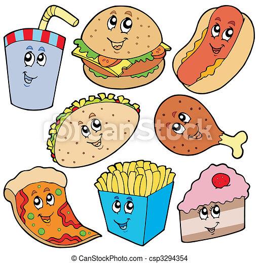 Colección de comida rápida - csp3294354
