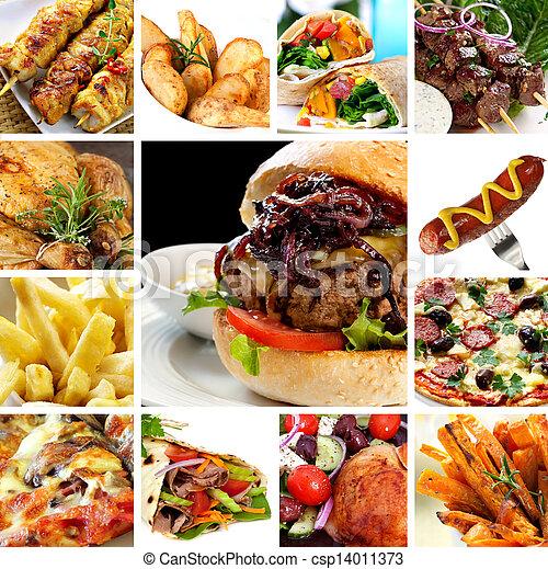 alimento, rápido, colección - csp14011373