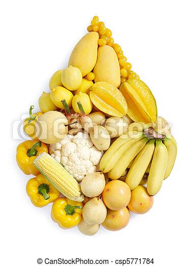 Comida amarilla saludable - csp5771784