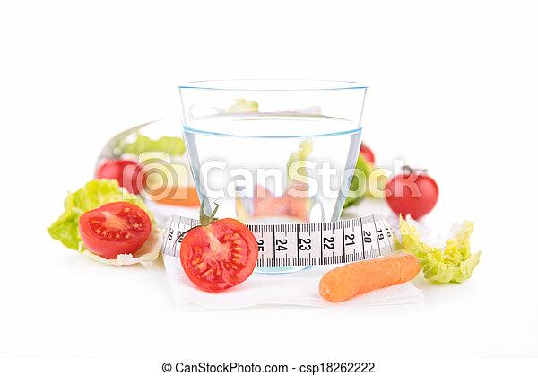 Comida saludable y bebida - csp18262222
