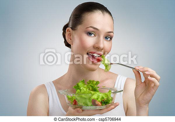 Comiendo comida sana - csp5706944