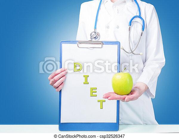 Concepto comida saludable - csp32526347