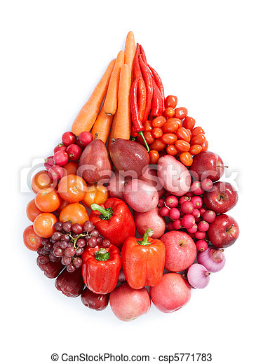 Comida saludable roja - csp5771783