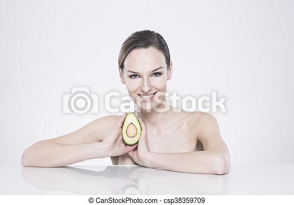 La comida sana es un secreto de mi belleza - csp38359709