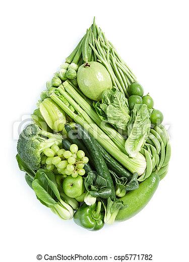 Comida saludable verde - csp5771782