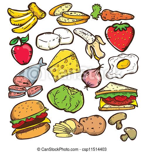 alimento sano, versión, color - csp11514403