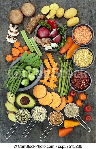alimento saudável, estilo vida - csp57515288