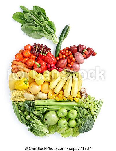 alimento saudável, maçã, bite: - csp5771787