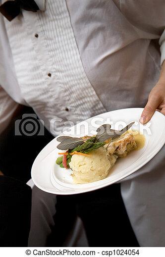 alimento, ser, boda, servido - csp1024054