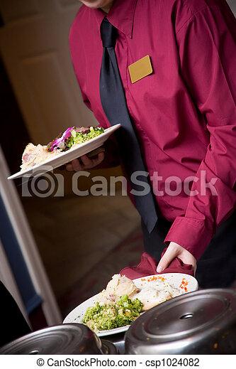 alimento, ser, boda, servido - csp1024082