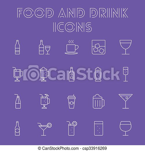 Comida y bebida. - csp33916269