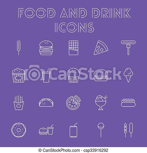 Comida y bebida. - csp33916292