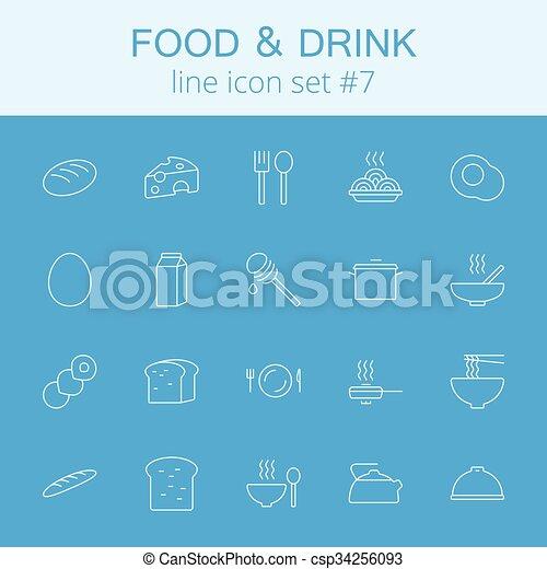 Comida y bebida. - csp34256093
