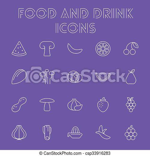 Comida y bebida. - csp33916283