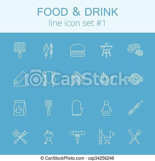 Comida y bebida. - csp34256246