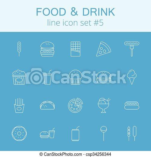 Comida y bebida. - csp34256344