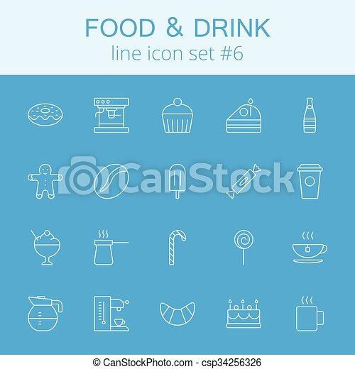 Comida y bebida. - csp34256326