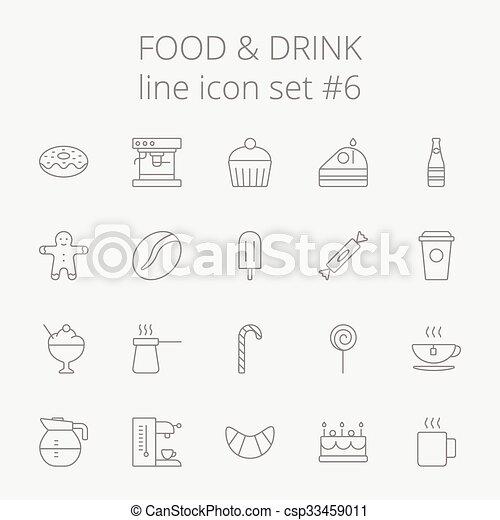 Comida y bebida. - csp33459011