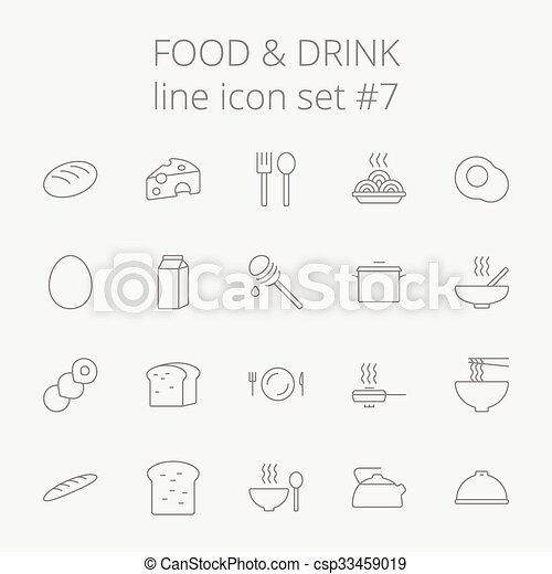 Comida y bebida. - csp33459019