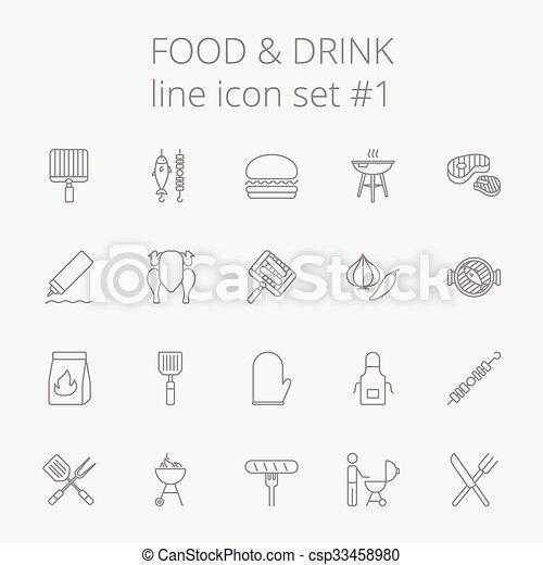 Comida y bebida. - csp33458980