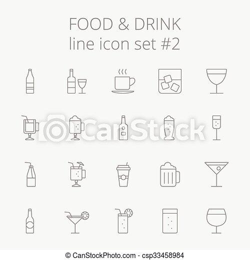 Comida y bebida. - csp33458984