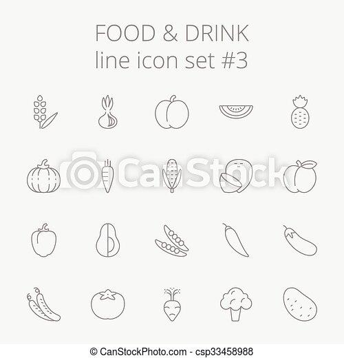 Comida y bebida. - csp33458988