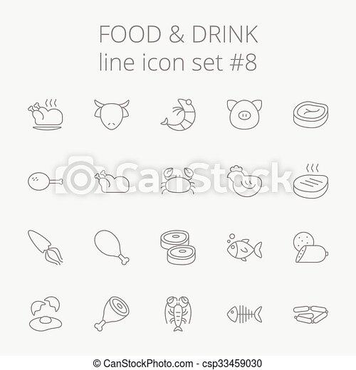 Comida y bebida. - csp33459030