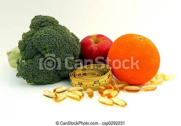 Comida sana y suplemento - csp0292231