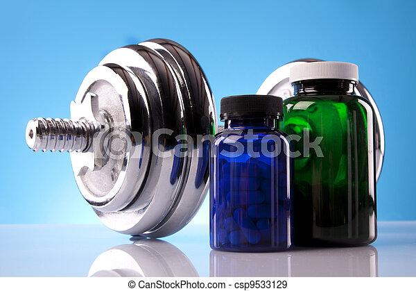 Suplementos de comida, dieta saludable - csp9533129