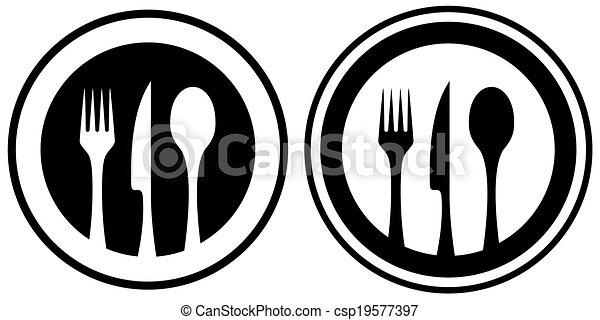 alimento, utensílio, jogo, cozinha, ícone - csp19577397