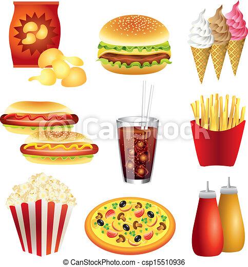 Vector de comida rápida fijado - csp15510936