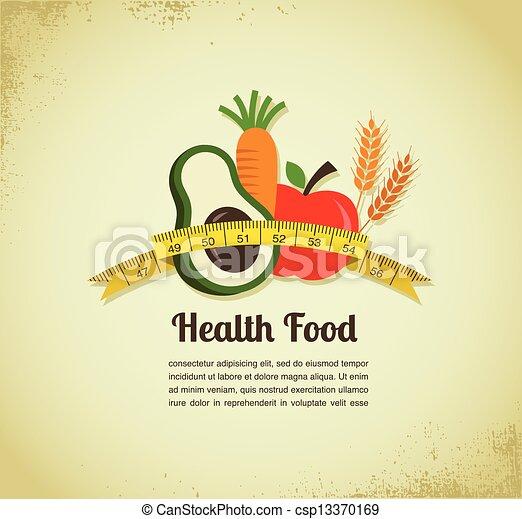alimento, vector, salud, plano de fondo - csp13370169