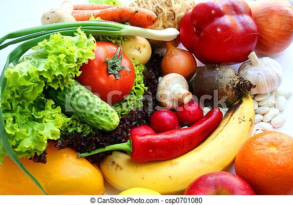 Comida vegetariana - csp0701080