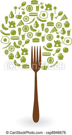 alimentos, árbol - csp8946676